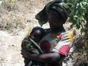 Young mother and son from Lumuli
